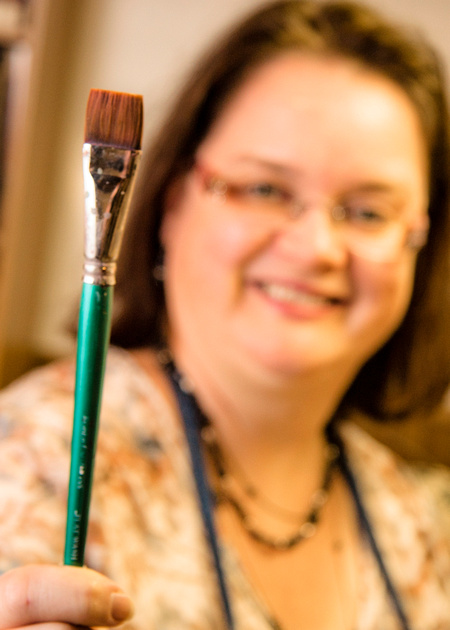 The Favored Brush for this Favored Painter