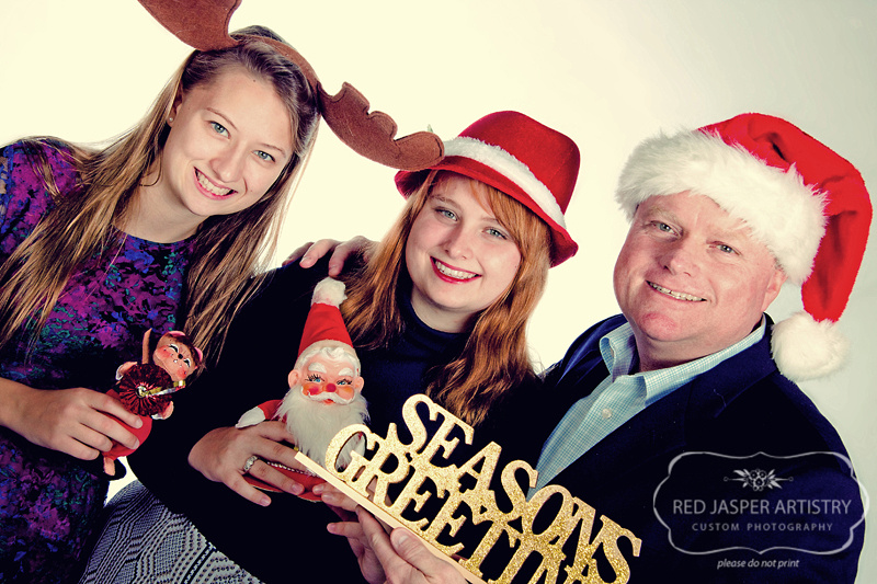 I love whimsy - so why not add a little whimsy into your holiday card?  If you are looking to theme your image to the holiday props are a great way to go.  As with anything non-traditional is a great way to go as well!