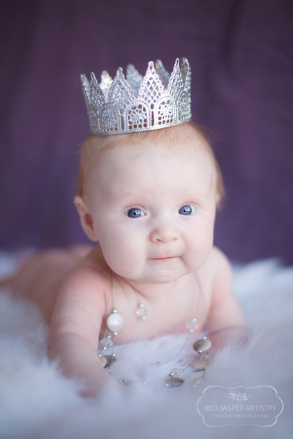 This is my image of the session.  I had brought out the crown in case I wanted to play with it and quickly realized a princess needed jewels as well.  I ran to my jewelry armoir and picked out this sparkly masterpiece.  Marygold perked right up as magestic royalty before I even got the camera to my eye.