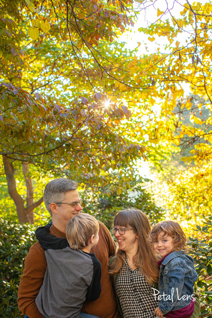 A fun family of four stylishly exude their personality in family portraits with Petal Lens Photography.
